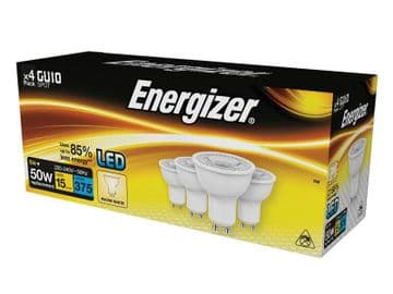 LED GU10 50° Non-Dimmable Bulb, Warm White 375 lm 5W (Pack 4)